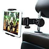Soporte para Tablet Ansteker para reposacabezas de Coche, Soporte Giratorio de 360 Grados, Soporte para Asiento de Coche para iPad, Samsung, de 4 a 11 Pulgadas, Color Negro