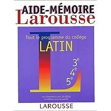 Aide-mémoire, latin