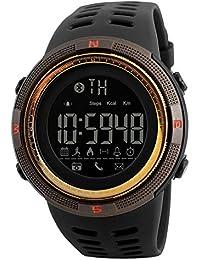 Skmei Smartwatch Android IOS iphone Bluetooth Podómetro Sport 5ATM Impermeable Reloj Digital Hombre Militar