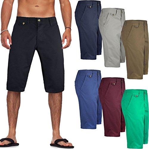 Kangol. Mens Casual Knee Length Long 3/4 Chino Summer Shorts Bottoms Cotton Pants