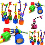 The Wooden Rocking Giraffe Toy,Mamum 1 Pc Kids Intelligence Toy Dancing Stand Colorful Rocking Giraffe Wooden Toy
