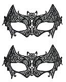 Karneval Klamotten Maske Fledermaus Augenmaske Fledermaus 2 Stück