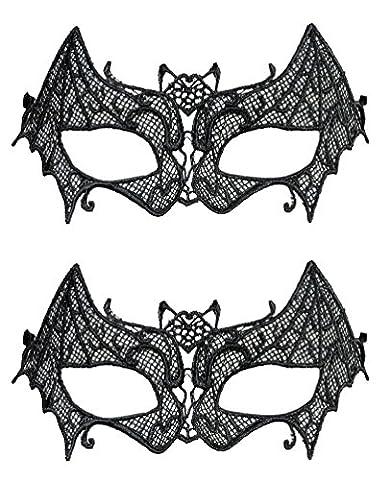 Karneval Klamotten Maske Fledermaus Augenmaske Fledermaus 2 Stück (Halloween-kostüme Für Zwei Kinder)