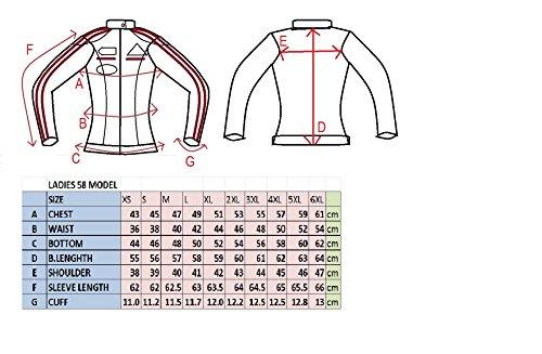 Urban-Leather-58-Giacca-Moto-da-Donna-con-Imbottitura-Protettiva-Marrone-Taglia-4XL
