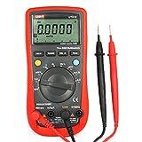 UNI-T UT61E Digital-Multimeter mit LCD Multimeter Voltmeter Amperemeter Ohmmeter für AC/DC Spannung Strom, Widerstand, Kapazität Tester mit RS232C Kabel