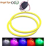 Angel Eyes LED COB Halo Car Ring DRL Daytime Running Lights 100mm White 12V 24V DC Package 2