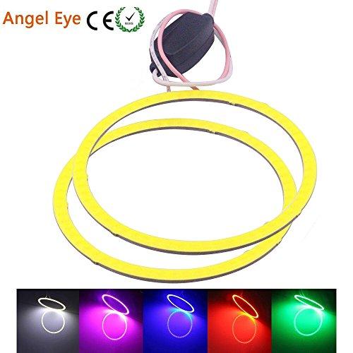 Preisvergleich Produktbild Angel Eyes LED COB Car Halo Ring Daytime Running Light 100mm Blue 12V 24V DC 2 Pack