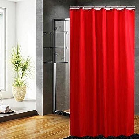 Fanjow® Mildew Resistant Fabric Shower Curtain Water Repellent Bathroom Shower