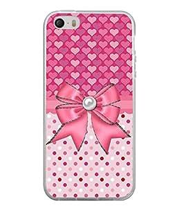 PrintVisa Designer Back Case Cover for Apple iPhone 4S (Illustration Anniversary Celebration Pearl Decoration Sweetheart Beautiful Valentine)