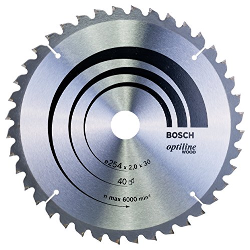 Bosch Zubehör 2608640435 Kreissägeblatt Optiline Wood 254 x 30 x 2,0 mm, 40