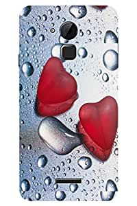 TEMPER Hearts In Water 3D Back Cover for Coolpad Note 3 Plus