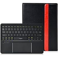 LEICKE® Sharon - Samsung Galaxy Tab S 10.5 - Custodia protettiva in Ecopelle con Tastiera Bluetooth removibile e touchpad integrato - Layout QWERTY UK