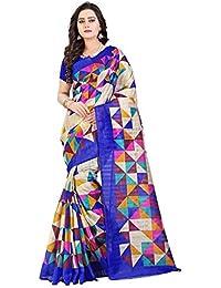 Indian Fashionista women's Bhagalpuri Cotton Saree with Blouse Piece (STMNVN01_Blue)