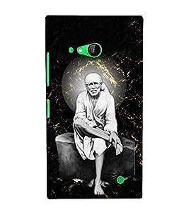 Sri Sai Baba 3D Hard Polycarbonate Designer Back Case Cover for Nokia Lumia 730 :: Microsoft Lumia 730 :: Microsoft Lumia 735