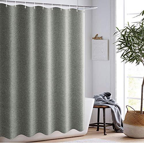 CICIN Leinen Duschvorhang, wasserdicht Mehltau Extra Lange waschbar Bad Vorhang für Hotel, Bad, Familie mit Haken,150 * 200CM - Klar Vorhang Dusche Liner