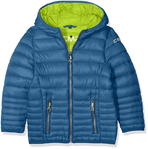 CMP Jungen Isolationsjacke Jacke, Denim/Lime Green, 116 (Winter-thinsulate Jacke)