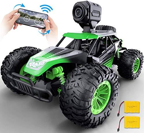 GizmoVine Ferngesteuertes Auto RC Mit 480p Kamera 2,4GHz Funkfernsteuerung Hohe Geschwindigkeit Geländewagen Fernbedienung Racing Rennauto Auto Spielzeug Fahrzeug für Erwachsene und Kinder