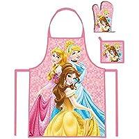 Kids Girls Disney Princess Apron Glove And Potholder Set 3 To 8 Years