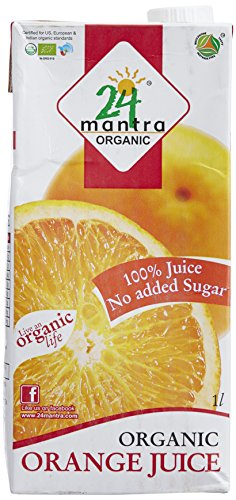 24 Mantra Organic Orange Juice, 1 Liter  available at amazon for Rs.137