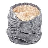 Männer Frauen Schal MYMYG Unisex Warme Strick Kutte Hals Mohair Weiche Winter Warme Baumwolle Schals Kragen Winter Wärmer Elastischer Pelz Ring Cowl Schal(A4-Grau,Freie Größe)