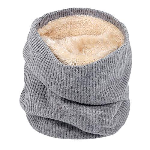Männer Frauen Schal MYMYG Unisex Warme Strick Kutte Hals Mohair Weiche Winter Warme Baumwolle Schals Kragen Winter Wärmer Elastischer Pelz Ring Cowl Schal(A4-Grau,Freie ()