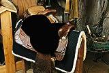 Engel Reitsport Lammfell Sattelsitzbezug western Farbe schwarz (Sabez 2, ohne Hornausschnitt/Horndurchlass)