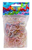 Rainbow Loom RL556 - Original Silikonbänder Glitzer Mix, 300 Bänder, 12 C - Clips
