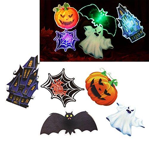 K¨¹rbis Fledermaus Spinne HAIR CLIP Haarreif LED Licht Deko (Halloween Spinne Clip Art)