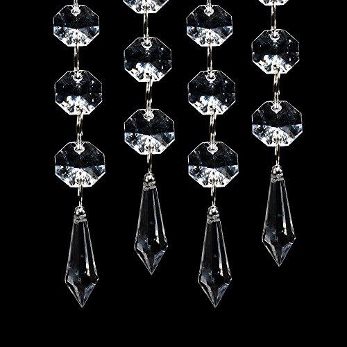 ristall Stränge Edelsteine Perlen Vorhang für Hochzeit Mittelstücke Kranz / Party / Weihnachts Dekoration ()