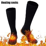 Elektrisch Beheizte Socken Wiederaufladbar mit 3 Dateien Einstellbarer Temperatur, Beheizbare...