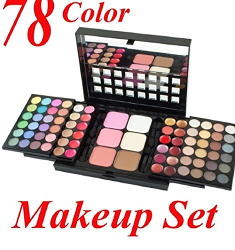48 Eyeshadow + 24 Lip Gloss +6 Foundation face powder/Blush Makeup Kit Cosmetics Make up Pallete 1pc 78 colors