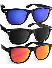 UVprotect® Sonnenbrille Wayfarer Design verspiegelt UV400 W02