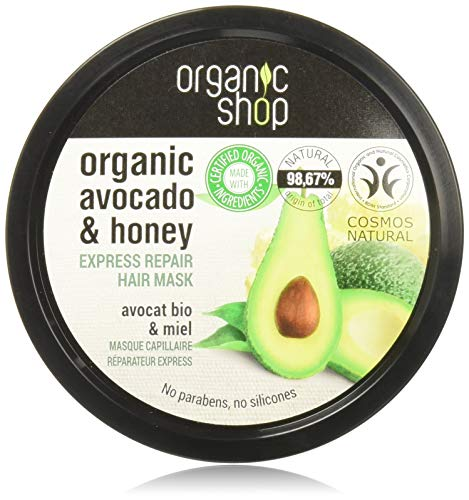 Organic Shop, maschera per capelli al miele e avocado, 250ml