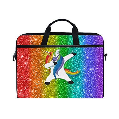 826d47a26 WowPrint Laptop Sleeve, Funny Unicorn Laptop Case Shoulder Strap with  Handle Portable Notebook Computer Bag