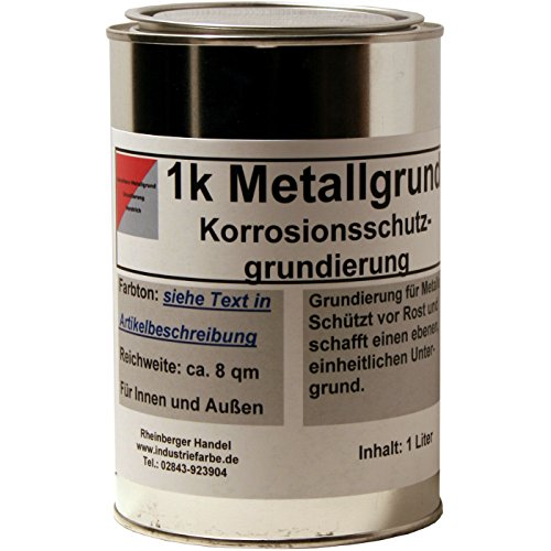 Kunstharz Rostschutzgrund, Metallgrund, mit Zinkphosphat, rotbraun, 1 Liter