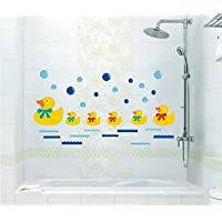 Haahaha Removable Swimming Bathing Ducks Family Homes Wall Art Stickers