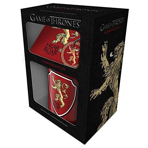 Game Of Thrones - Set de Regalo de la Serie de Juego de Tronos con Taza y Llavero (Talla Única/Lannister)