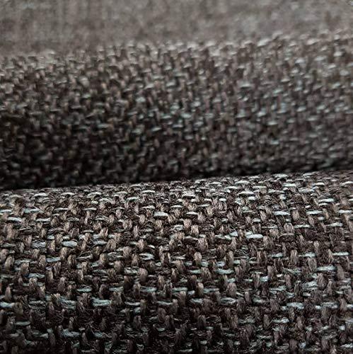 Blueberry grober Web-Stoff Möbelstoff Bezug-Stoff Polster-Stoff Meterware Textil flach gewebt Anthrazit Grau Blau