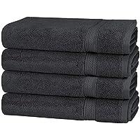 Utopia Towels - 700 GSM Premium händehandtuch Set 4er Packung - Baumwolle für Hotel & Spa Maximale Weichheit und Saugfähigkeit (Grau)