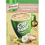 Knorr Soupe Instantanée Cup a Soup Velouté Champignons 51g 3 Sachets - Lot de 6