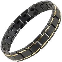 sisto-x Herren/Damen Armband Titan in Schwarz/Gold Peru Therapie Neodym preisvergleich bei billige-tabletten.eu