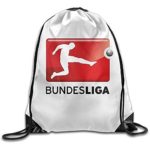 Canace Bundesliga logo deportes al aire libre cordón bolsas mochila, Blanco, talla única