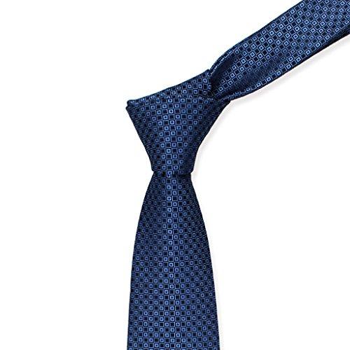 Necktie Cuiping- Business-Mann-Fachmann-Bindung Marineblaue kleine quadratische karierte Kreis-Kleid-Bindung