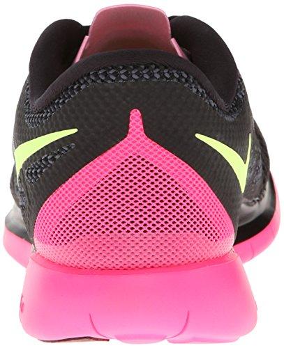 Nike Nike Free 5.0 Flash, Chaussures de running femme Schwarz/Rosa-Gelb
