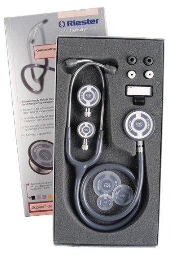 Riester 4093 Stethoskop, tristar, 3 Bruststücke in verkaufsfördernder Verpackung, Blau
