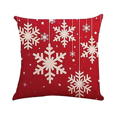 """Frashing Couchkissen Leinen Baumwoll Kissenbezüge Bedrucken Platz Dekorative Kissenhülle rot Kissenbezug Weihnachten gedruckt Stuhl Rücksitzkissen, 18""""* 18"""" / 45cm * 45cm von China - Gartenmöbel von Du und Dein Garten"""