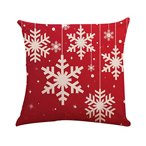 Italily piazza cuscino copertina cuscino astuccio scossa federa nascosto cerniera chiusura copricuscino natale fiocco di neve alce cuscini coperture comode divano decorativi