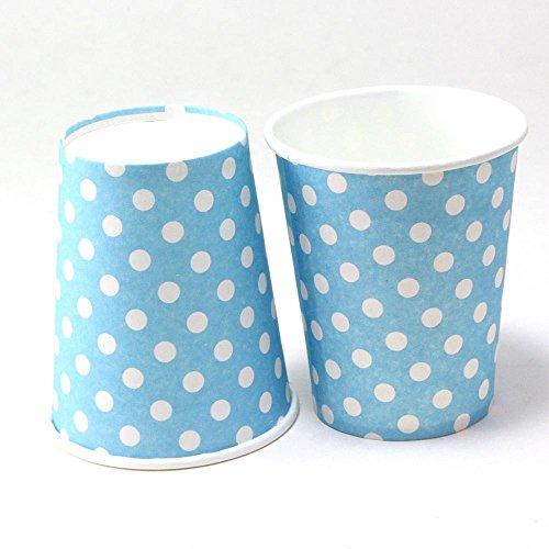Polka Dot Papier-Brillen Trinken Einweg Geschirr Hochzeit Geburtstag Dekorationen blau (Trinken Brillen)