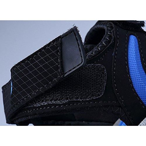 Eastlion Herren und Jungen Leder Sandalen Peep-Toe Sommer Sandalen Strand Sandalen Athletic und Outdoor Sport Sandalen Schuhe Farbe 5