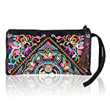 Best Broadfashion Womens Wallets - Women's Fashion Ethnic Embroider Purse Wallet Clutch Bag Review